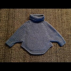 Hand crafted blue turtleneck sweater size 2/3T
